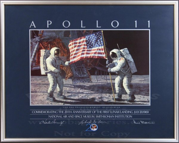 2008: Poster Signed by 3 Astronauts