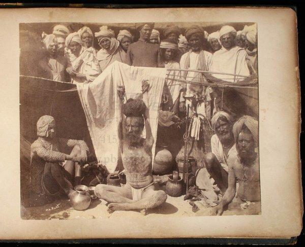 2114: 19th century photograph album of India & Ceylon - 4