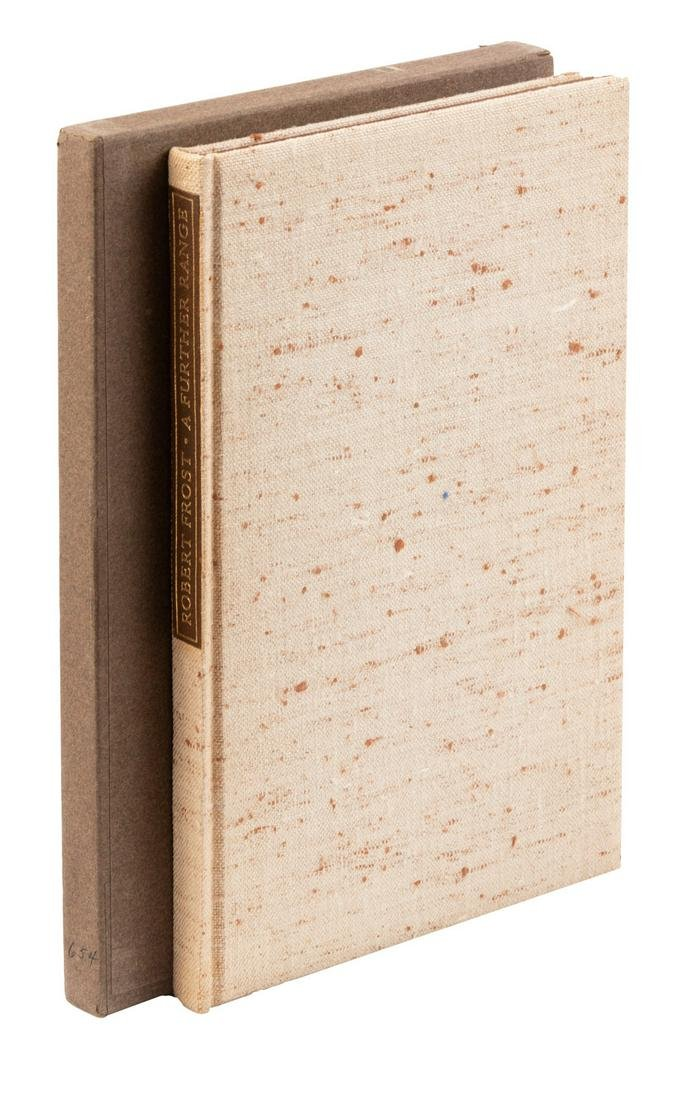 Robert Frost A Further Range signed limited edition.