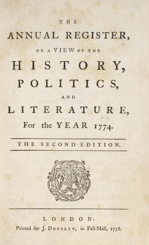 3006: The Annual Register. 1774-1780, 1782, 1783