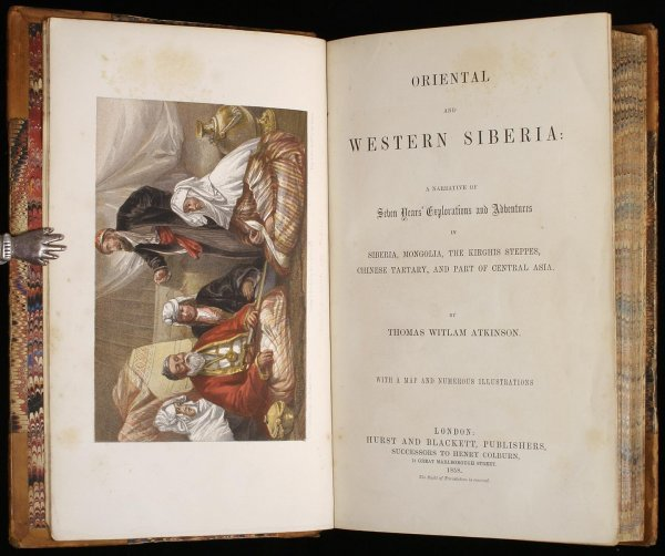 3012: Atkinson's Siberia with color lithographs 1858