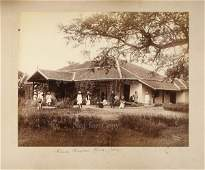 3114 19th century photograph album of India  Ceylon