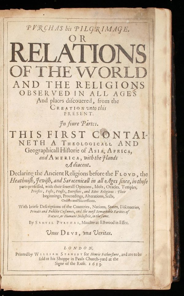 139: First edition of Purchas His Pilgrimage 1613