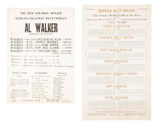 Two promotional boxing broadsides circa 1920s