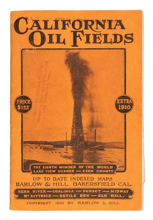 Maps of the Oil Fields of California 1910