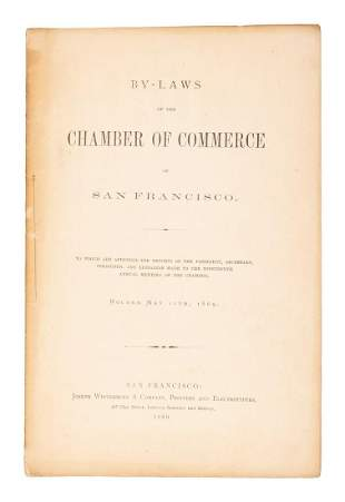 ByLaws of SF Chamber of Commerce 1869
