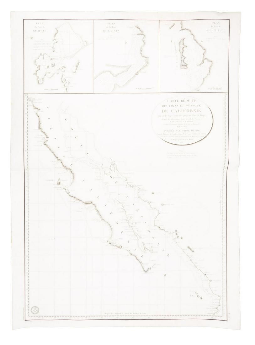 Large chart of Baja Califorinia 1826