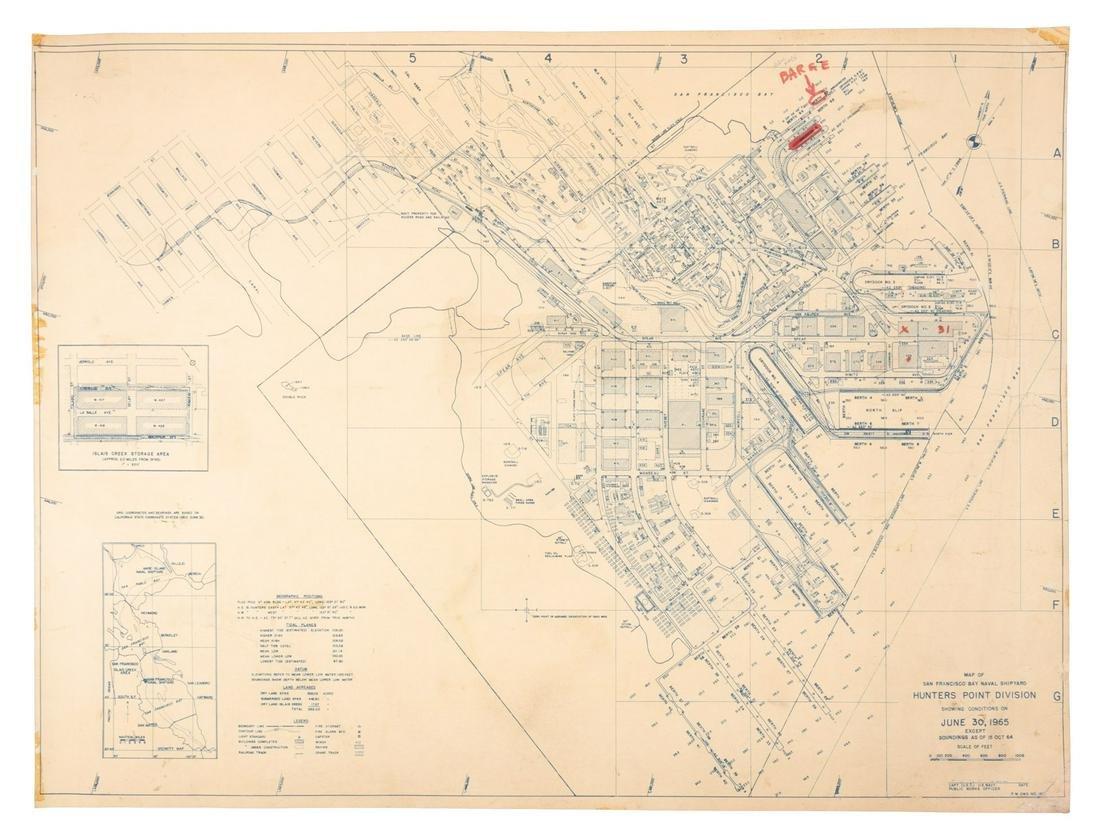 Plan of Hunters Point Shipyard San Francisco