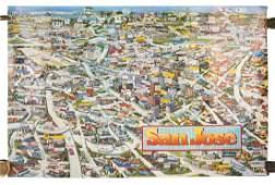 Color bird's-eye view of San Jose
