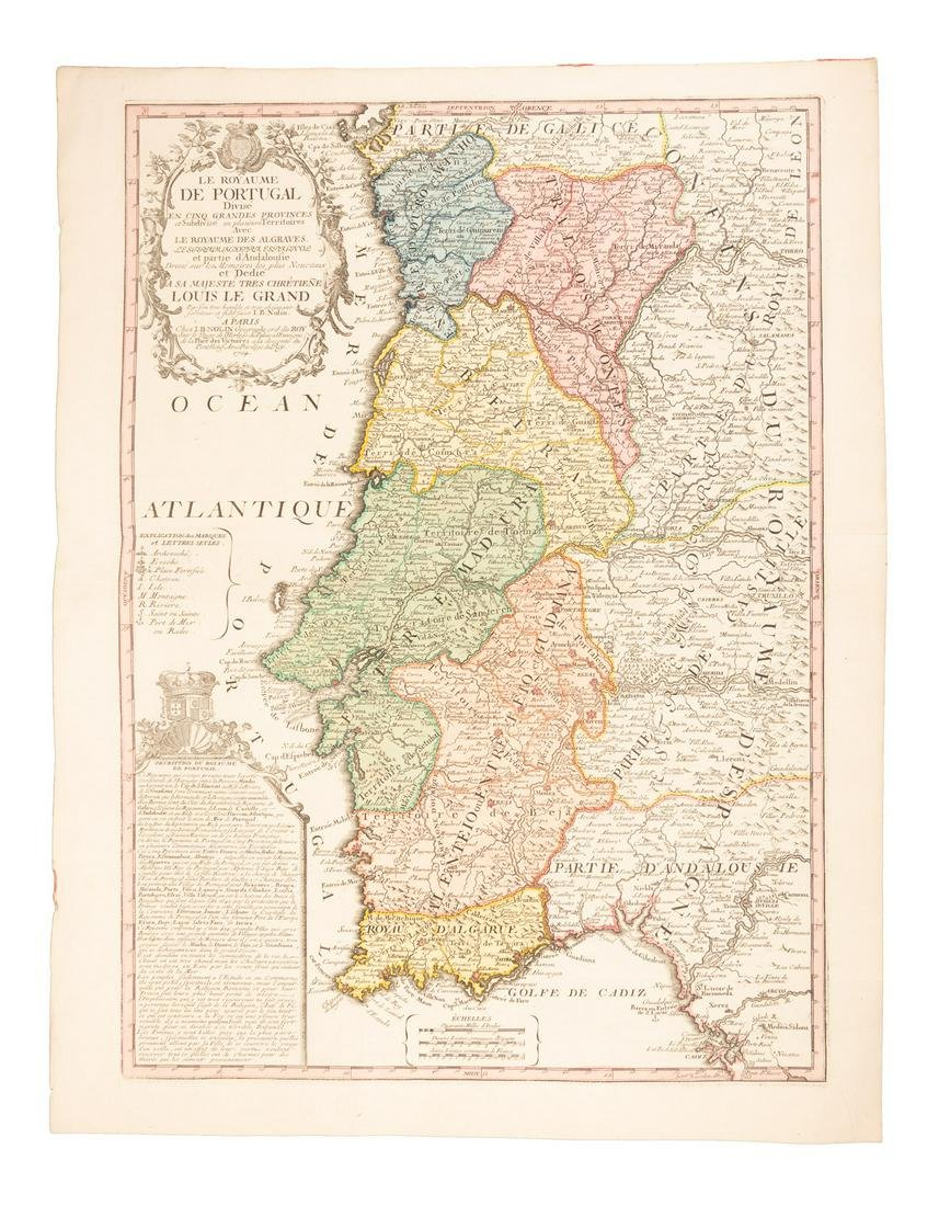 Large-scale map of Portugal 1704