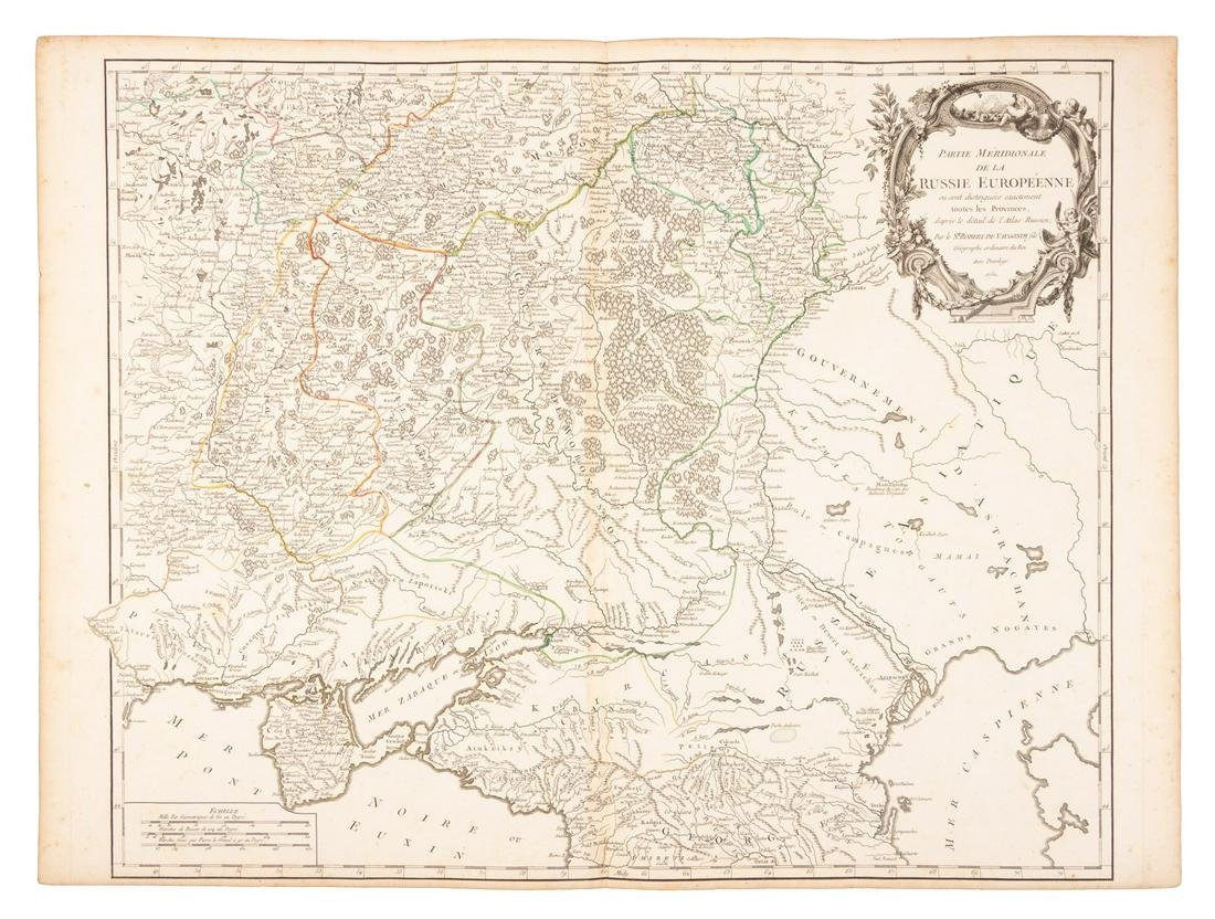 Russian in Europe, on 2 sheets, 1752-3
