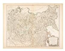 Pair of maps of Russian Empire 1750