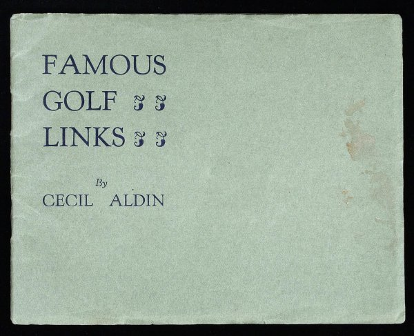 1004: Cecil Aldin Famous Golf Links promotional booklet