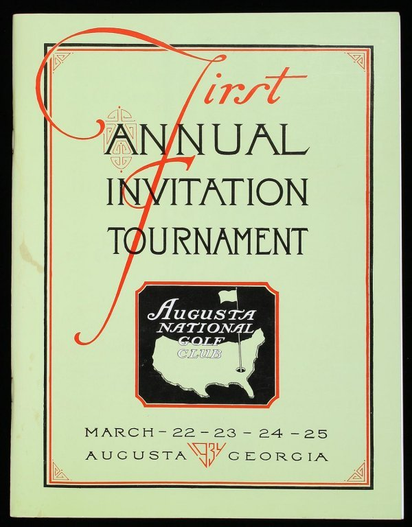 1010: Facsimile of rare first Masters Golf program