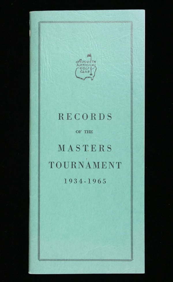 1013: Records of the Masters Tournament, 1934-1965