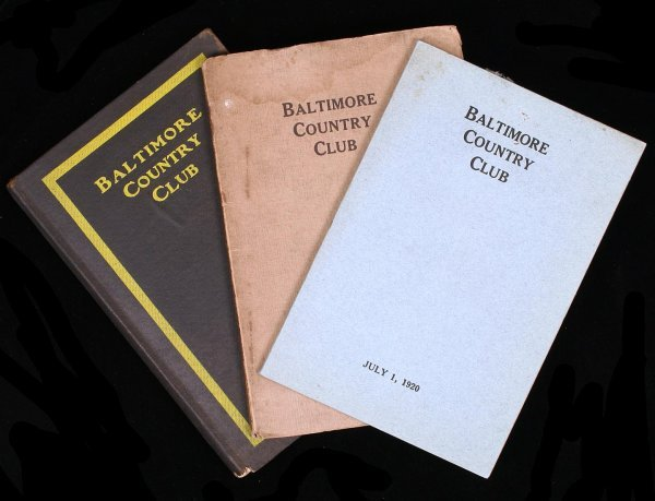 1018: 3 Baltimore Country Club Year Books 1905-1920
