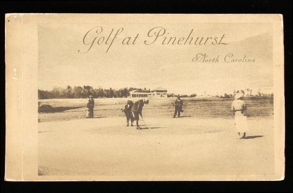 1272: Golf at Pinehurst, NC, 30 postcards, c.1900