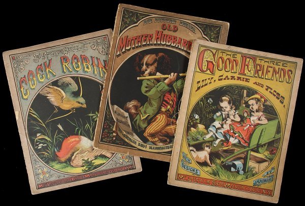 2021: 3 Chromolithograph children's Books
