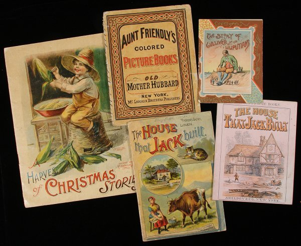2022: Lot of 5 Chromolithograph children's books
