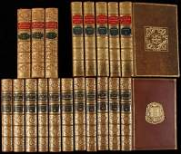 2263 Lot of 19 finely bound volumes