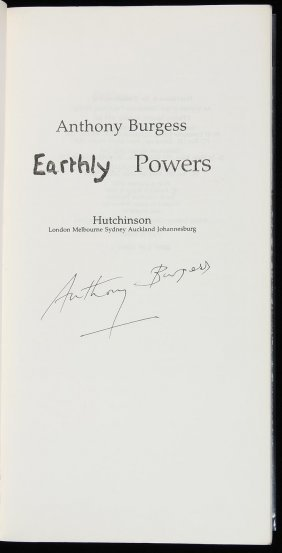 11: Burgess, Earthly Powers, Uncorrected Proof Sgd