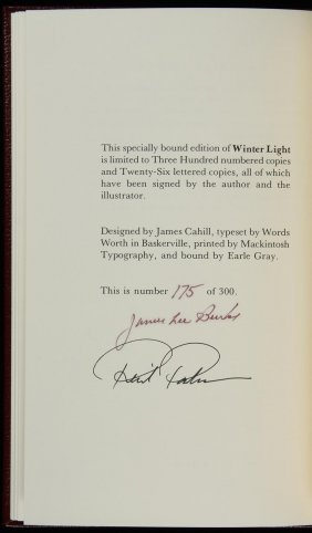 12: Two titles by James Lee Burke - Signed Limited Ed