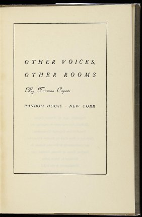 17: Truman Capote, Other Voices, Other Rooms 1st Ed.