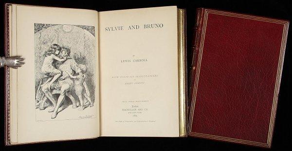 19: Lewis Carroll, Sylvie & Bruno 2 vols. Zaehnsdorf