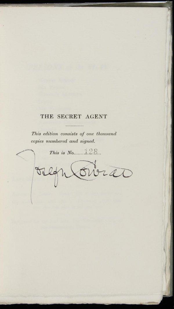 23: Joseph Conrad The Secret Agent Signed Limited Edn