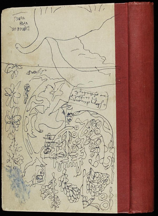 230: Gregory Corso original 1963 journal with drawings - 4