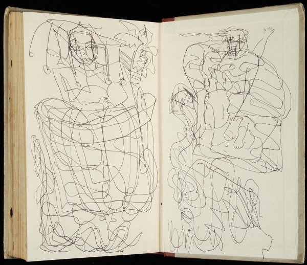 230: Gregory Corso original 1963 journal with drawings - 6