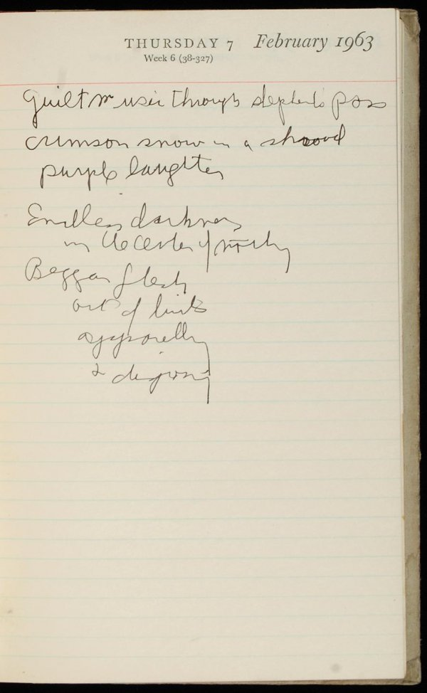 230: Gregory Corso original 1963 journal with drawings - 7