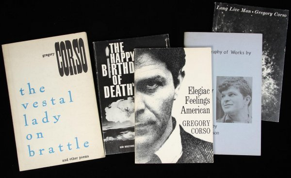 231: Lot of 5 signed books by Gregory Corso