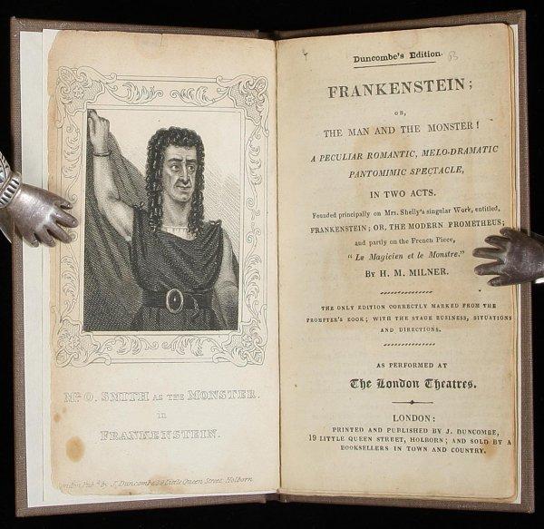 412: 28-page Frankenstein playbill w/ portrait, 1826