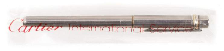 CARTIER Must de Cartier Sterling Silver Fountain Pen