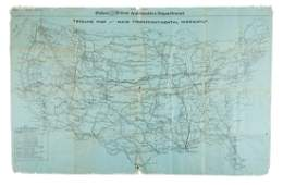 Rare early highway map of US 1923