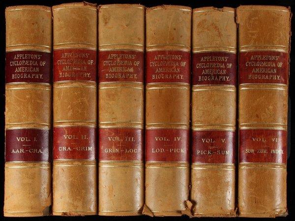 1005: Appletons' Cyclopædia of American Biography 6 vol