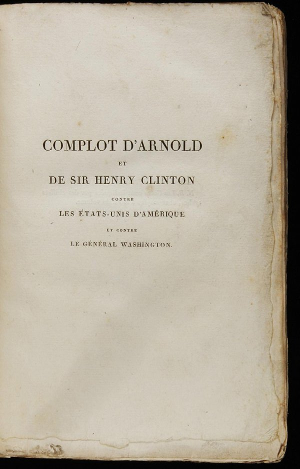 1007: Complot d'Arnold et de Sir Henry Clinton 1816