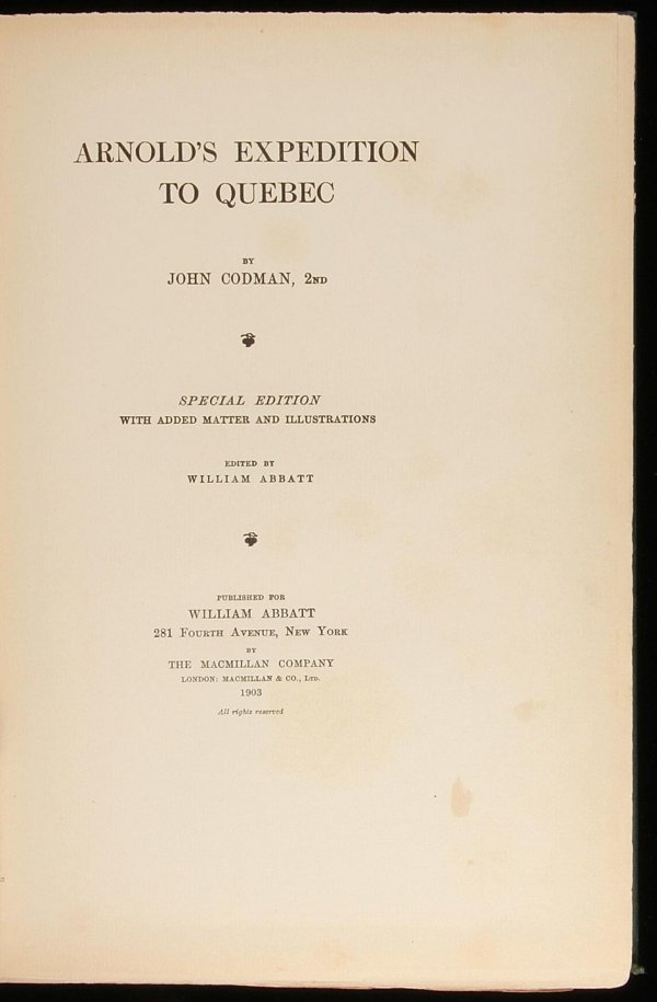1008: Arnold's Expedition to Quebec Special Edition