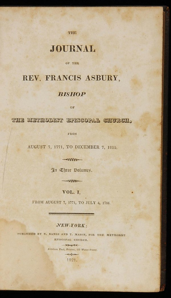 1010: The Journal of the Rev. Francis Asbury 1821