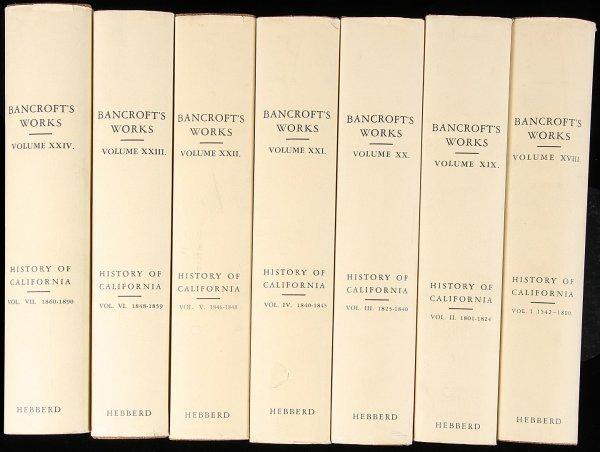 1011: Bancroft's History of California 7 Volumes