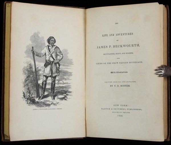 1018: Bonner's Life of James Beckwourth 1856