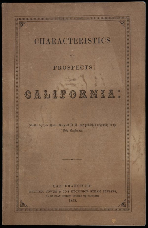 1023: Bushnell, California..Characteristics & Prospects