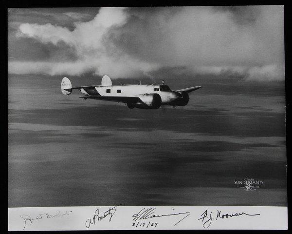 1145: Sunderland photo of Amelia Earhart in flight