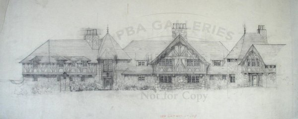 1245: Pencil drawing of the exterior of The Bend
