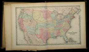 1254 Coltons Atlas of the World Vol1 Americas 1855