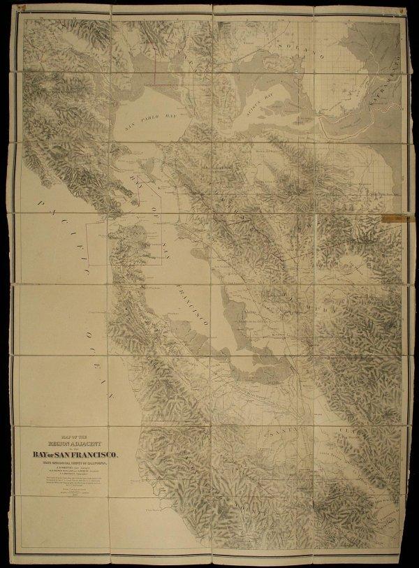 1269: 1867 Geological Survey Map of San Francisco Bay