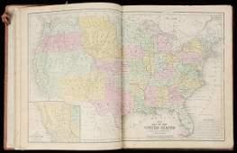 1273 Mitchells School Atlas 1854 handcolored maps