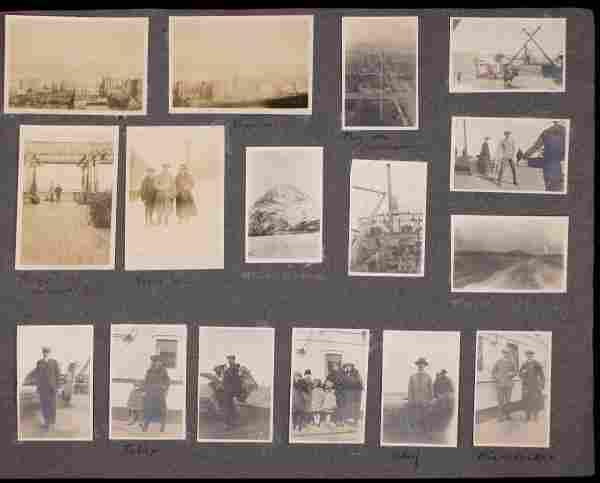 1380: Album w/ 598 photos Japan & Orient, circa 1918