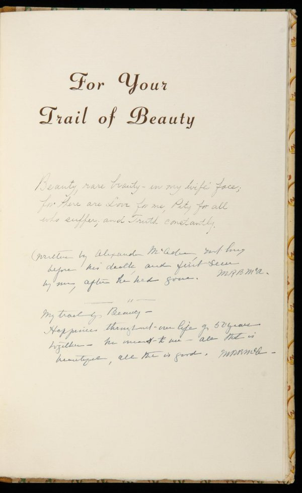 2002: Trail of Beauty, first Allen Press book 1/100 Sgd